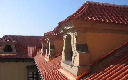 Clam Gallas palace - roof reconstruction